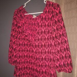 Merona Dress Shirt 3/4 sleeves